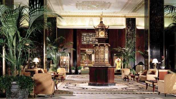 Waldorf Astoria lobby lounge