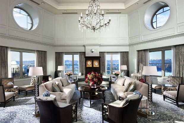 Mandarin Oriental, Washington D.C. lobby sitting area
