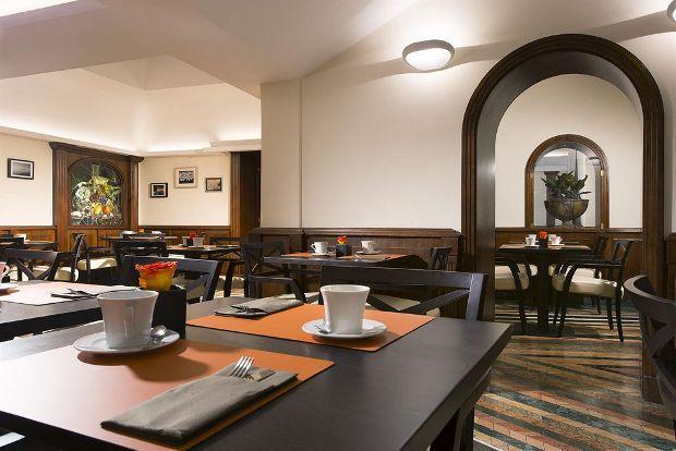 The Hotel Nazionale breakfast area