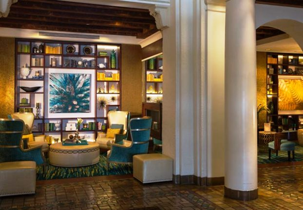 The Vinoy Renaissance lobby library