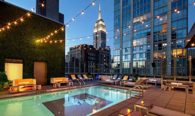 Gansevoort Park Avenue Pool at Night