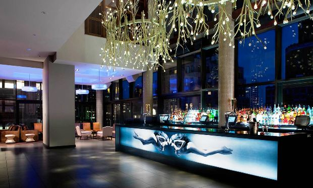 Gansevoort Park Avenue bar at night