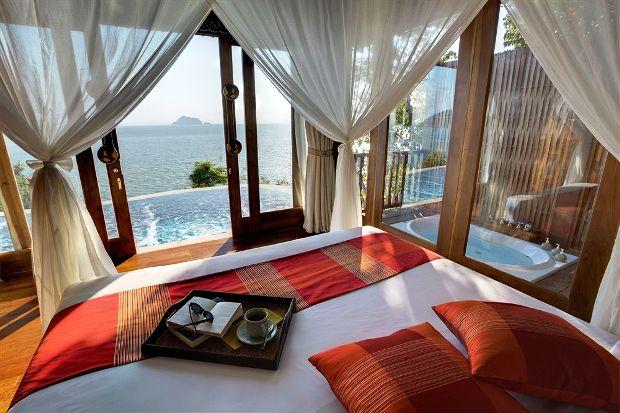 Santhiya Koh Yao Yai Resort & Spa ocean front guest room