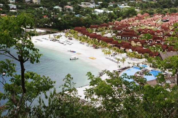 Buccament Bay Resort resort arial view