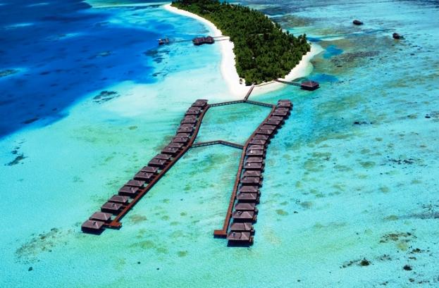 Medhufushi Island Resort aerial view