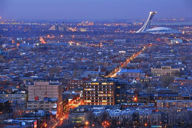 Montreal Canada arial