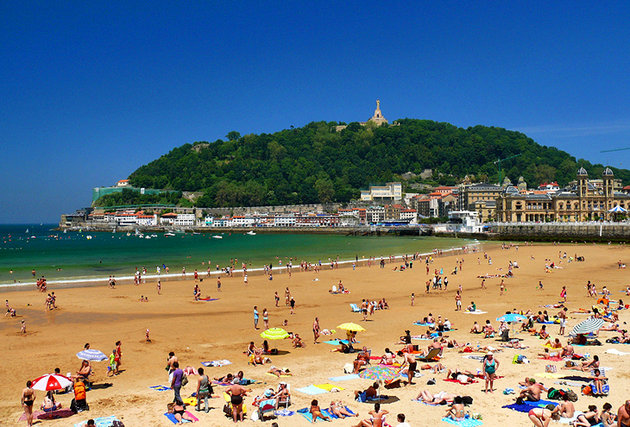 San Sebastian La concha beach Spain