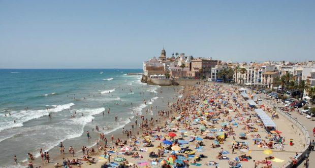 Sitges beaches Spain