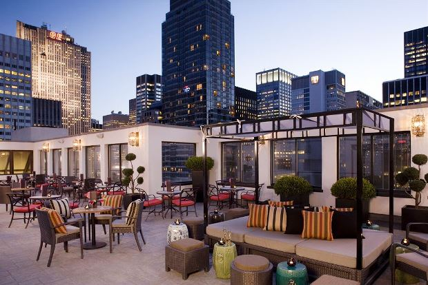 The Peninsula New York patio terrace
