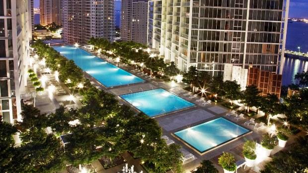 Viceroy Miami pool at night