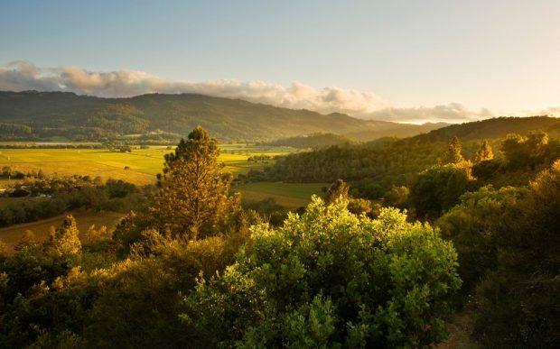 Calistoga Ranch Napa Valley California valley view