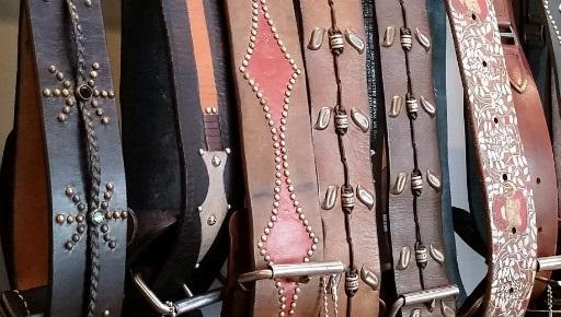 Vintage belts at Redolent Mercantile