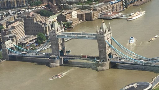 Tower Bridge as seen from The Shard