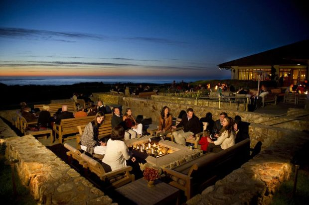 Inn at spanish bay evening firepit Monterey