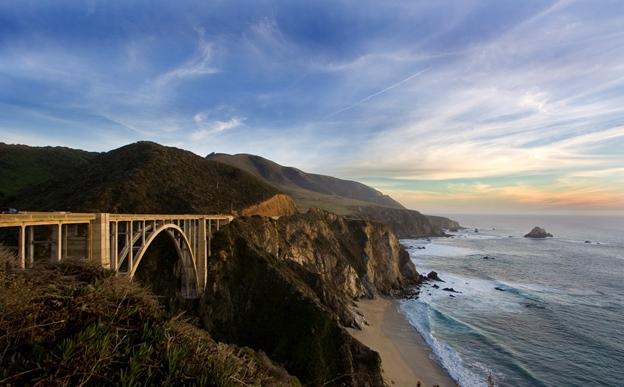 Route to Monterey California